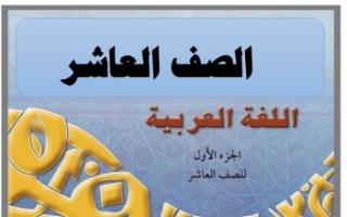 حل كتاب اللغة العربية للصف العاشر الفصل الاول