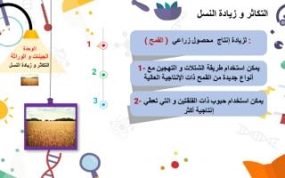 تقرير علوم للصف الرابع التكاثر و زيادة النسل