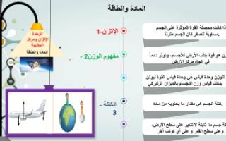 بوربوينت تقرير علوم سادس المادة والطاقة