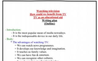 تقرير انجليزي للصف الحادي عشر watching television