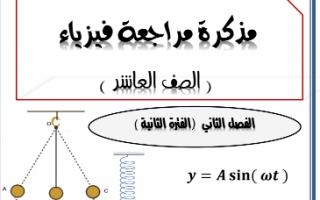 مذكرة فيزياء للصف العاشر الفصل الثاني ثانوية يوسف العذبي الصباح