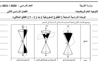 بنك أسئلة رياضيات البند 1-7 للصف الثاني عشر علمي الفصل الثاني
