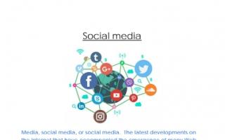 تقرير انجليزي للصف الثامن Social media 2