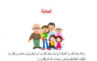 تقريرالعائلة للصف الثامن