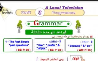 مذكرة لغوية انجليزية  للصف السادس فصل أول