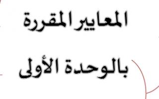 أهم المعايير المقررة لغة عربية للصف السابع الفصل الأول