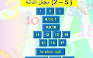 حل كراسة التمارين مجال الدالة ٢ رياضيات للصف الحادي عشر الفصل الاول
