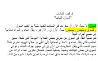تقرير أحياء للصف الحادي عشر الفصل الاول للمعلمة ياسمين عبدالعزيز