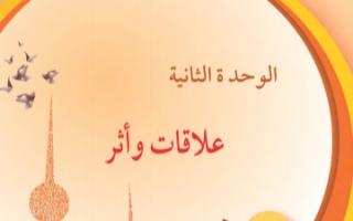 حل وحدة علاقات واثر لغة عربية للصف السادس