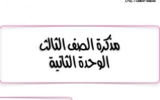 مذكرة للصف الثالث الوحدة الثانية تربية إسلامية للمعلمة أماني بندر العتيبي