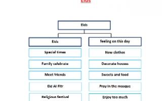 تقريرEids لغة انجليزية للصف السابع الفصل الأول