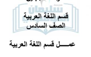 مراجعات الوحدة الأولى اللغة العربية للصف السادس الفصل الأول إعداد المعلم علي بولند 2020 2021