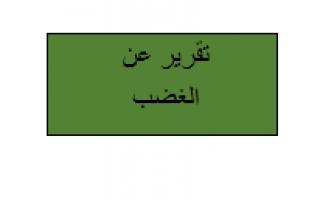 تقرير اسلامية الغضب للصف الثامن