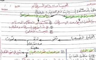 مذكرة أحياء للصف الثاني عشر علمي فصل ثاني إعداد أ.هالة