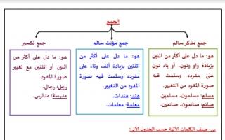 مذكرة نحو أنواع الجموع عربي إعداد أ.فوزي الهمامي