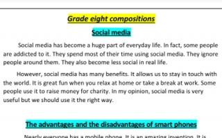 مواضيع تعبير انجليزي للصف الثامن الفصل الثاني