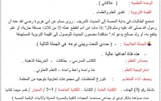 تحضير الوحدة الثانية علاقاتي للصف التاسع لغة عربية اعداد عبير الحسيني