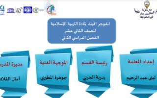 انفوجرافيك إسلامية للصف الثاني عشر الفصل الثاني
