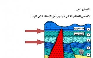 مذكرة تمارين محلولة للقطاعات جيولوجيا للصف الحادي عشر علمي الفصل الثاني