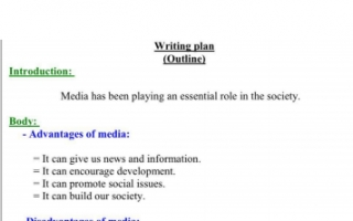 تقرير انجليزي للصف الحادي عشر the importance of media