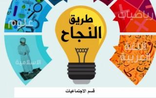 مراجعة محلولة اجتماعيات للصف السادس طريق النجاح الفصل الاول