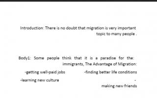 تقرير انجليزي 2 migration للصف الثاني عشر