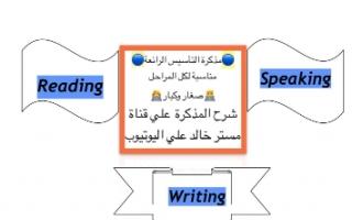 مذكرة التأسيس لغة انجليزية للمبتدئين اعداد خالد سلمان