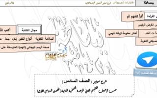 الاختبارات التجريبية مع شرح معايير الوحدة الثانية عربي للصف السادس الفصل الأول إعداد أ.أحمد جلال