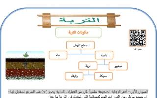 أوراق عمل علوم وحدة التربة للصف السابع اعداد بشار احمد الفصل الثاني