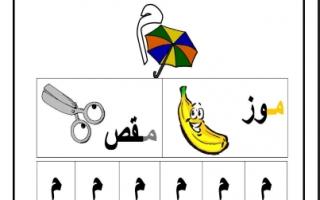 ورقة عمل حرف الميم لغة عربية للصف الأول الفصل الأول