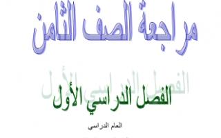 مراجعة تربية اسلامية للصف الثامن إعداد سليمان عيدان الفصل الأول