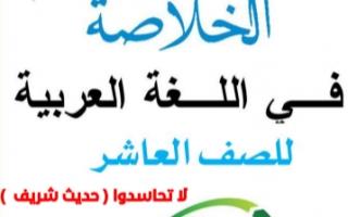 مذكرة لا تحاسدوا عربي للصف العاشر الفصل الثاني أ.عبد الناصر حسن