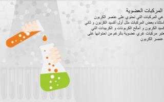 تقرير كيمياء الصف الحادي عشر المركبات العضوية