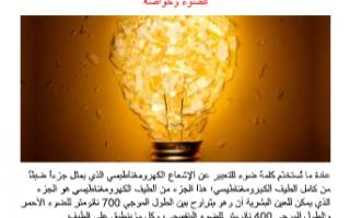 تقرير فيزياء للصف الحادي عشر الضوء وخواصه