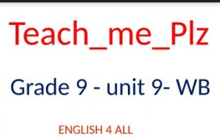 مذكرة unit 9 WB للصف التاسع الفصل الاول
