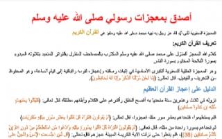 تقرير اسلامية سابع التصديق بمعجزات رسولنا صلى الله عليه وسلم