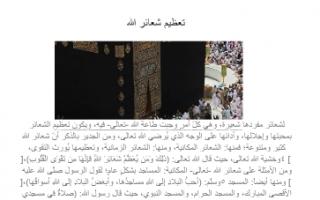 تقرير تعظيم شعائر الله إسلامية للصف الثاني عشر الفصل الثاني