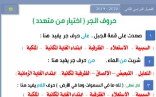مذكرة نحو غير محلولة عربي للصف الحادي عشر الفصل الثاني إعداد أ.عبد الناصر حسن