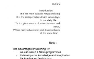 تقرير انجليزي الصف الحادي عشر watching television