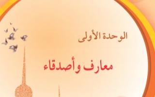 حل وحدة معارف واصدقاء لغة عربية للصف السادس