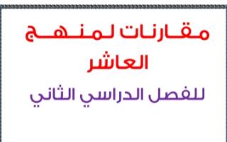 مذكرة مقارنات أحياء للصف العاشر الفصل الثاني ثانوية سلمان الفارسي