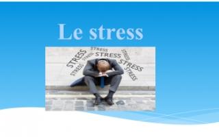 تقرير الضغوطات والتوتر فرنسي للصف الثاني عشر أدبي الفصل الثاني