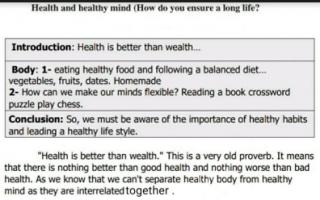 تقرير الحياة الصحية انجليزي للصف الثامن