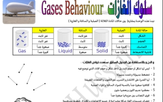 مذكرة شرح كيمياء للصف الثاني عشر الفصل الاول