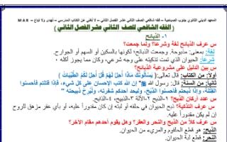 مذكرة فقه شافعي للصف الثاني عشر الفصل الثاني