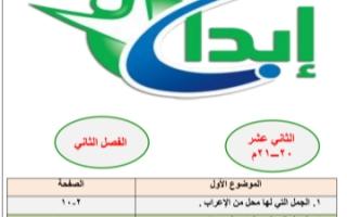 مذكرة نحو لغة عربية للصف الثاني عشر الفصل الثاني إعداد أ.محمد قاعود الشربيني