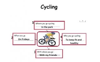 تقرير Cycling لغة إنجليزية للصف الرابع
