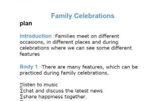 تقرير انجليزي للصف الحادي عشر family celebrations