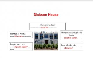 تقرير Dickson House لغة إنجليزية للصف الخامس الفصل الأول