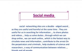 تقرير انجليزي للصف الثامن Social media 3